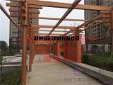 车库方钢木纹漆工程案例停车场廊架护栏钢结构木纹漆施工
