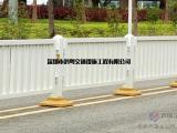 深标三型护栏现货 鸿粤现货深标护栏  马路深标隔离护栏厂家