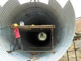 金属波纹涵管规格参数 公路涵洞钢波纹涵管使用范围