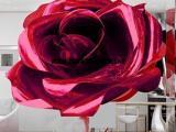 【玫瑰花不锈钢雕塑】