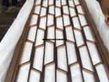 恒大酒店玫瑰金不锈钢屏风满焊隔断装饰具有现代时尚酷感