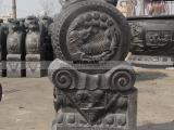 雕刻门墩石雕青石狮子石兽门墩雕刻麒麟招财辟邪门墩