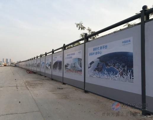 深圳工地围挡厂家 鸿粤地铁施工围挡 新型装配式围挡