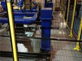 青岛地区供应车间仓库护栏网机器人防护网喷塑处理