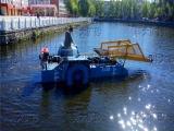 供应全自动割草船厂家,水面漂浮物打捞设备