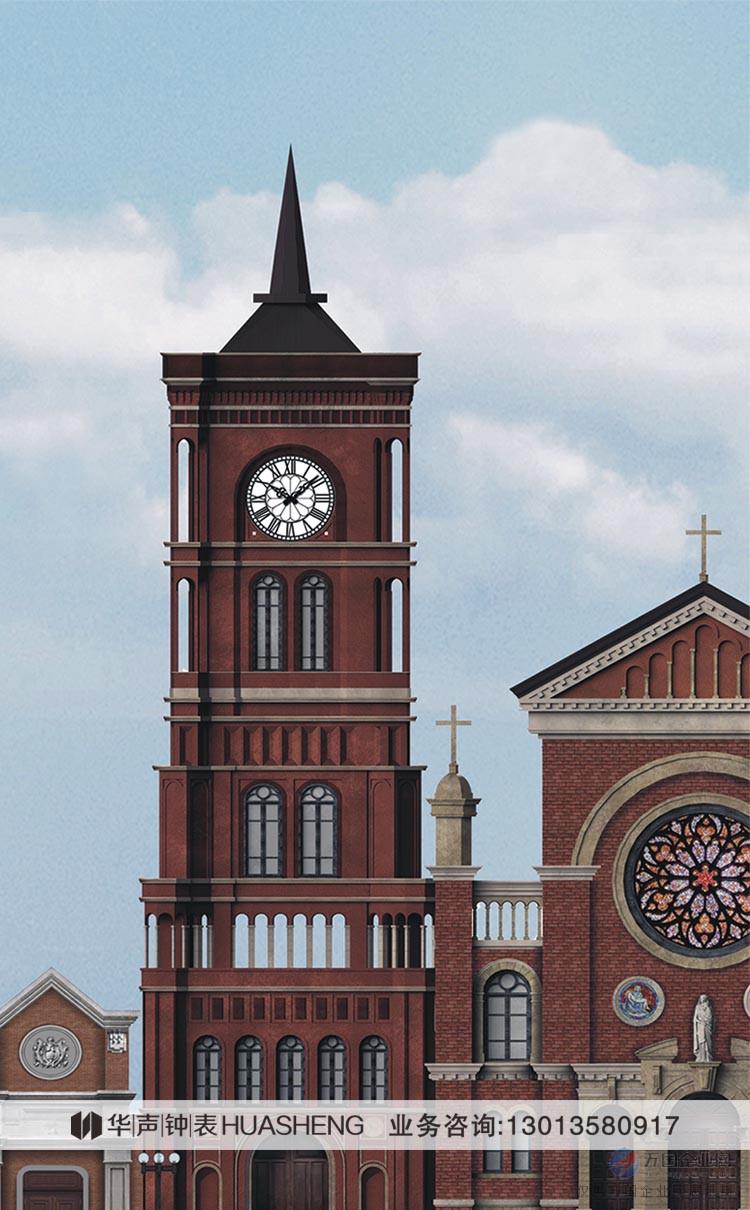 经久耐用的欧式教堂大钟-塔楼时钟华声钟表