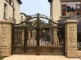 天津市铸铝大门订制 新品铝艺大门加工