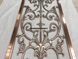 单面红古铜铝板浮雕镂空屏风浓浓的古典韵味、具有高姿态装饰效果