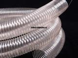 鑫茂塑胶钢丝伸缩软管pu环保通风木工抽吸颗粒镀铜钢丝排风用管