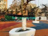青岛玻璃钢广场用树池坐凳