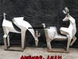 不锈钢鹿雕塑,房地产楼盘动物装饰摆件