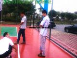 福顺体育专业生产施工硅PU篮球场、网球场、羽毛球场等面层材料