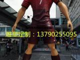 华泰雕塑推出1.8米逼真足球运动员球星人像