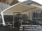 供应定制白色、彩色膜结构汽车棚 别墅车棚 免费上门测量安装