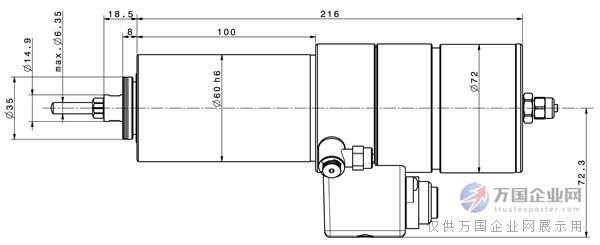 卡西德电机科技来自德国品牌Sycotec(KAVO)的雕刻机高速电主轴,大功率、大扭矩、高转速、可自动换刀(AC  DC),德国原装进口。以下是雕刻机主轴4061的技术参数(多种型号可选,详情请咨询卡西德电机科技) 外壳夹装尺寸 60 mm 马达类型 3 相异步高速电机 转速范围 5,000 – 50,000 min-1 额定电压 230 V 电流 大 7 A 扭矩 大 80 Ncm 频率 83 - 883 Hz 功率 大 1,800 W 重量 4.