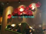 酒店饭店包间墙壁玻璃钢花朵雕塑装饰