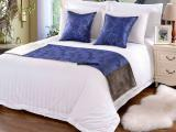 五星级酒店布草 宾馆床上用品四件套白色纯全棉贡缎床单