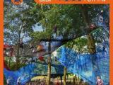 专业生产户外丛林穿越绳网攀爬组合 大型树上绳网攀爬游乐设施