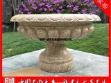 厂家直销石雕花盆 庭院欧式花钵 石材米黄花钵