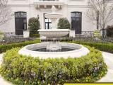 精美石雕水钵制造商  大理石室外喷泉流水钵景观雕塑