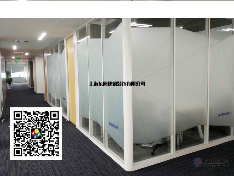 上海办公室贴膜_办公室玻璃隔断贴膜