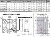 充电桩散热风扇12038高风量型6000转符合UL质量可靠