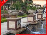 石雕欧式花钵 大理石石雕创意花盆园林装饰