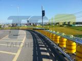 厂家直营旋转护栏、公路旋转式防撞桶、转子护栏