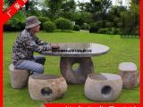 批发各种园林户外石桌椅 欧式仿古石桌椅 别墅景观石桌椅