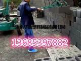 水泥砖厂夹砖机抓砖机视频