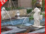 石雕喷水雕塑 各种动物喷水水景装饰摆件