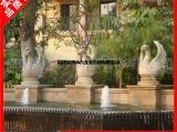 喷水石雕厂家 欧式喷水龙头雕塑 景观喷水石雕