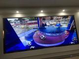 在企业会议厅用高清触摸拼接墙看世界杯,深圳拼接红外触摸屏厂家
