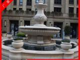 新款小区景观喷泉水钵 石雕动物喷泉狮子头装饰