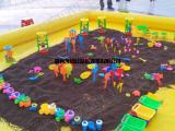 广场决明子充气沙池儿童充气水池钓鱼池大型公园水上游乐设施厂家