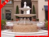 石雕水钵定做  各种户外景观石材水钵装饰 流水喷泉水景