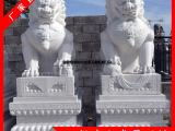 石刻石狮子批发定做 白石石雕狮子 惠安石狮子哪里便宜
