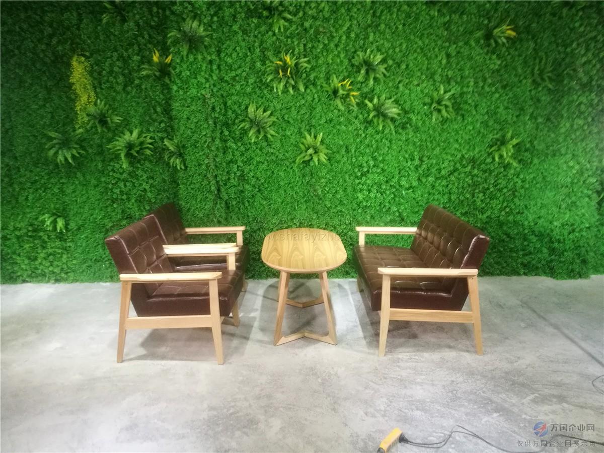 咖啡馆实木卡座沙发,北欧风格休闲卡座桌子组合
