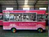 冷饮冰激凌售卖车 电动四轮街头冷饮户外小吃车