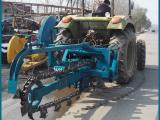 管道挖沟机开挖天然气管道、自来水管道、电光缆线管道