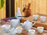 景德镇手绘茶具套装,现代家居礼品茶具