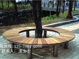 振兴专业定制实木树围椅 广场不锈钢围椅材质