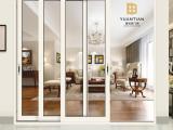 三轨联动推拉门 1.4型材 省空间 高端推拉门 暖白家用门