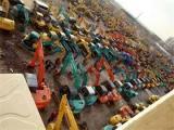 二手挖掘机直销市场场地现车两千台可供挑选抓钢机抓木机