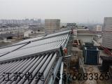 金坛万福大酒店12组太阳能集热器2台5匹空气能热水系统