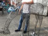 艺术不锈钢抽象鹿雕塑景观摆件厂家定制