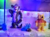 彩色冰雕展平方空间出租冰雪奇观团队打造游乐园租赁