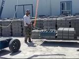 电动免烧砖装车机 免烧砖电动码砖机厂家