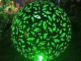 不锈钢景观球 景观镂空球雕塑 金属发光球雕塑