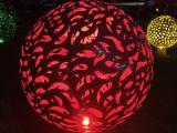 镂空景观球雕塑 不锈钢景观球雕塑 金属镂空球雕塑制作厂家